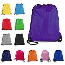 Открытый шнурок рюкзак футбол баскетбол шнурок сумки карман для подростков мужчин женщин тренажерный зал спорт