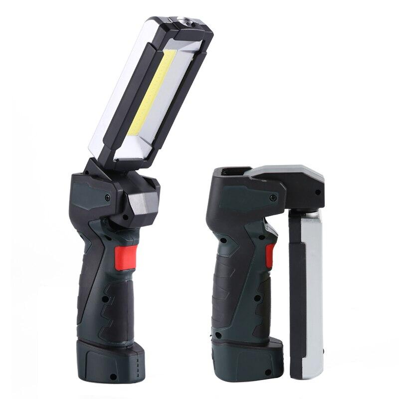 Перезаряжаемые светодиодный рабочий светильник встроенный Батарея работы вспышки светильник с магнитным основанием 5 светильник ing режима...