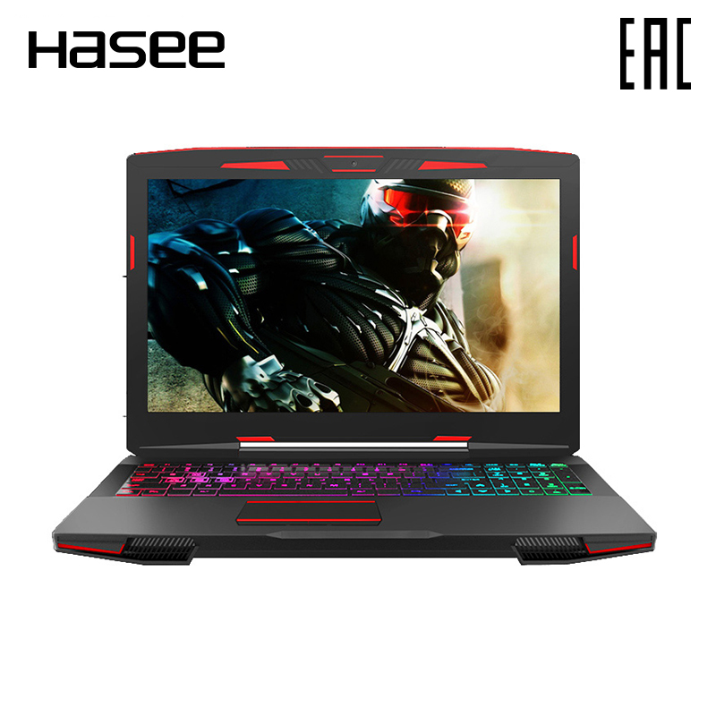 Ordinateur portable Hasee Z7-KP7GH 15,6 pouces IPS FHD/i7-8750H/GTX1060 6 GB/8 GB/256 GB SSD + 1 to HDD/rétro-éclairage rvb/DOS