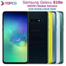 Samsung Galaxy S10e G970F globalnego oryginalny LTE telefon komórkowy z androidem Exynos 9820 octa core 5.8
