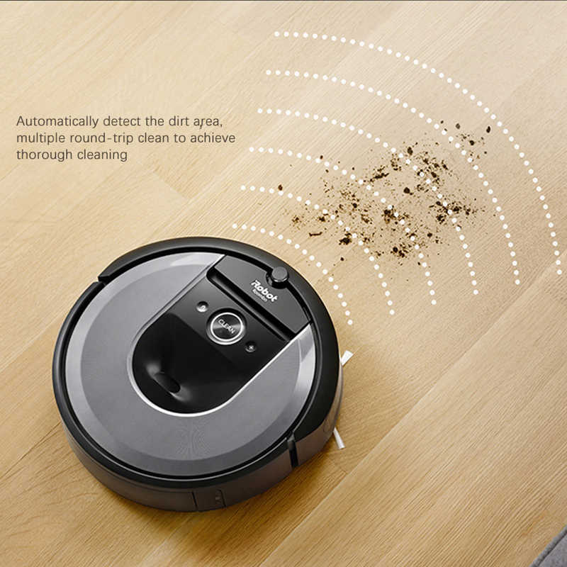 Irobot Roomba I7 Plus Robot Vacuum Cleaner Automatic Dirt Disposal Imprint Smart Mapping App Control With Integrated Box Base Aliexpress