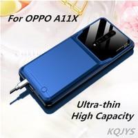 Kqjys 10000mah caso de bateria de backup para oppo a11x casos carregador de bateria portátil caso de banco de potência para oppo a11x capa de carregamento