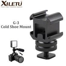 XILETU G3 เย็นรองเท้ากล้องขยายพอร์ตสำหรับ Canon Nikon Pentax กล้อง DSLR สำหรับไมโครโฟน LED เติมแสง