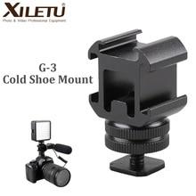 Xiletu G3 Giày Lạnh Camera Mount Adapter Mở Rộng Cổng Cho Canon Nikon Pentax Máy Ảnh DSLR Cho Mic Micro LED Video lấp Đầy Ánh Sáng