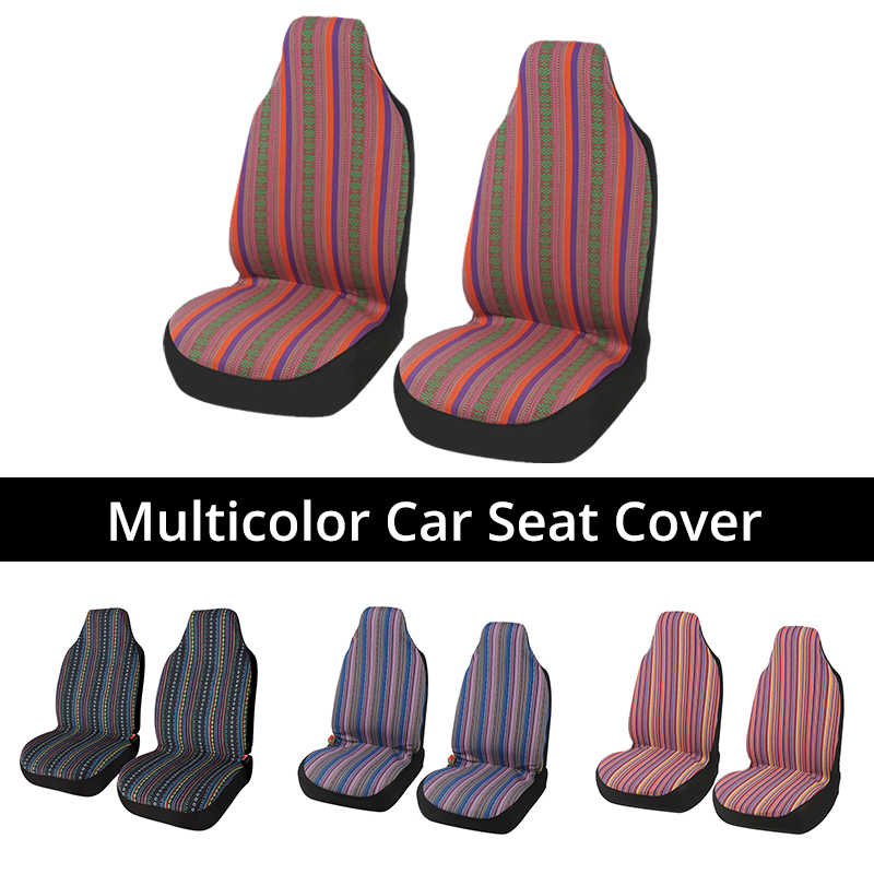 uxcell Universal Car SUV Automotive Front Bucket Seat Cover Pad 1 Pcs