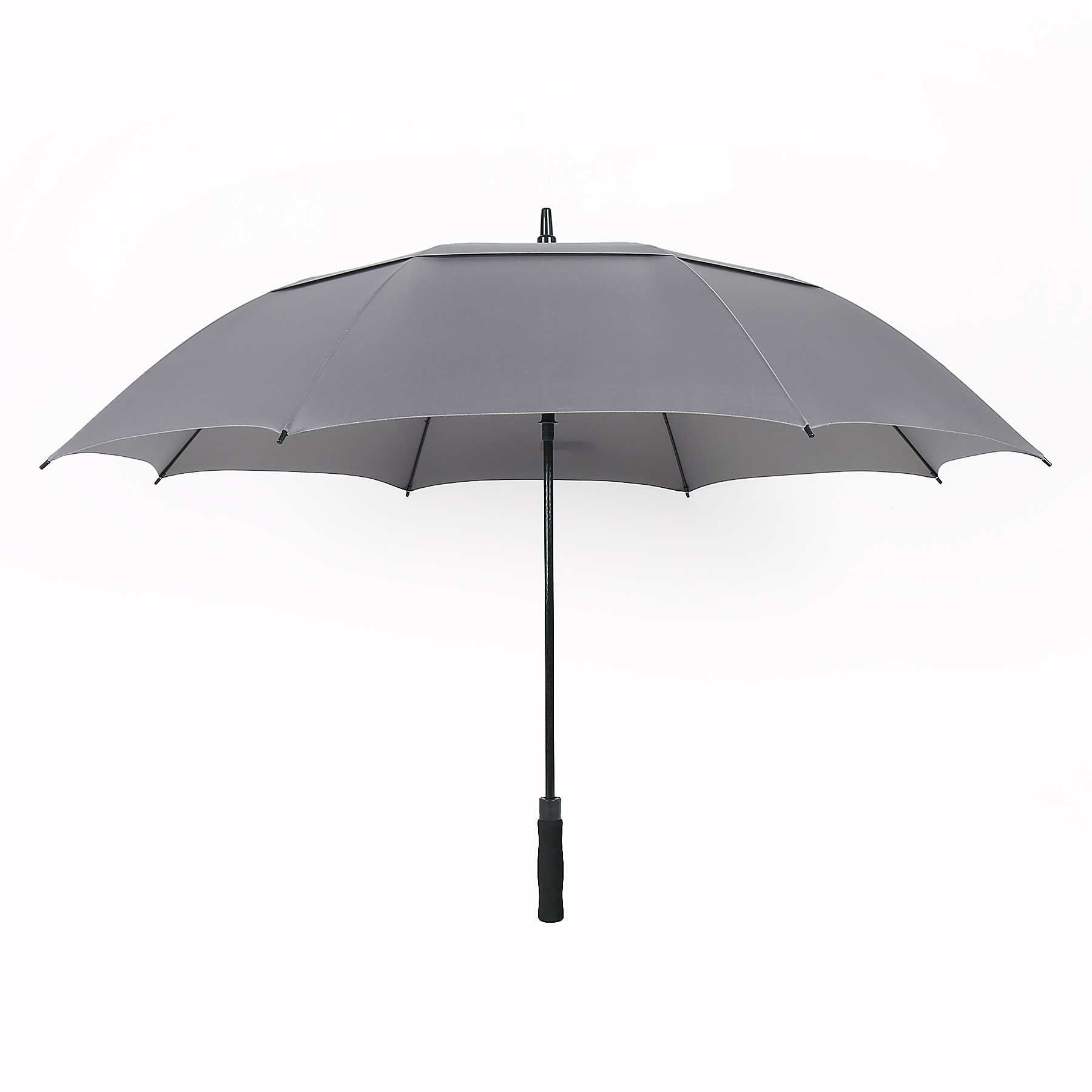 Manufacturers Wholesale 8 Bone Windproof Extra-large Double Golf Umbrella Business Straight Umbrella College Style All-Weather U