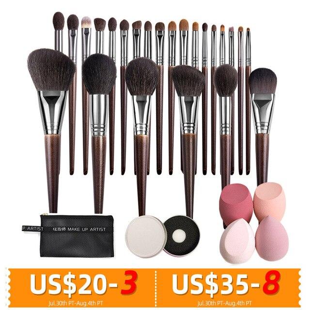 OVW Natural Makeup Brushes Set Eyeshadow Make Up Brush Goat Hair Kit for Makeup nabor kistey Blending  pinceaux maquillage 1