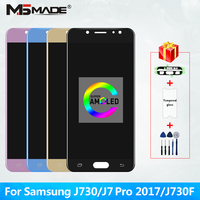 5.5 Super AMOLED For Samsung Galaxy J7 Pro J730 LCD For Samsung J7 2017 J730F J730G J730GM Display Touch Screen Digitizer