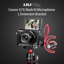 UURig R016 L Plate for Canon G7X Mark III Microphone Extension Quick Release Bracket With Cold Shoe Hand Grip