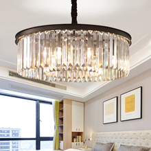 Luxurious Crystal Chandelier Lighting Round Luminaire Suspension in the Living Dining room Restaurant Cafe