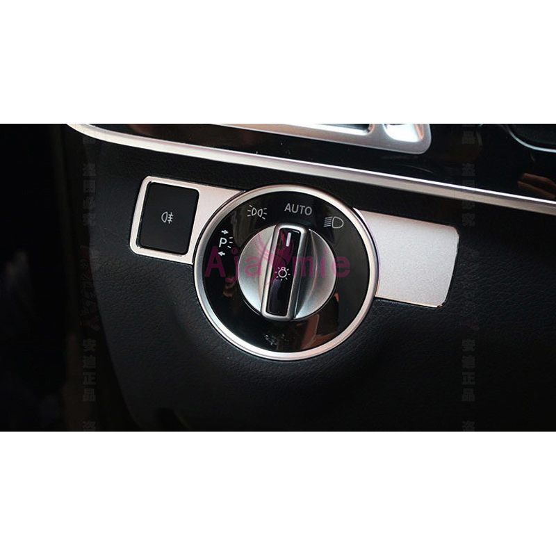 For Mercedes Benz E Class A B old-C GLA CLA ML GL GLK GLE GLS Headlight Switch Cover Trim Car Accessories