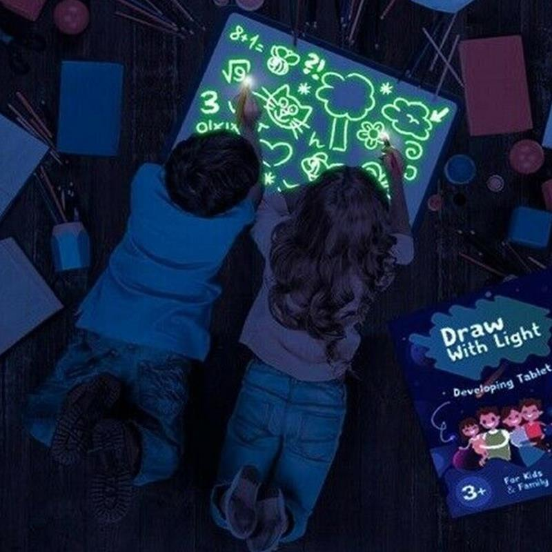 A5/A4/A3 Luminous Painting Board Highlighter Graffiti Sturdy Writing Board Copy Version High Density Durable Sketchpad