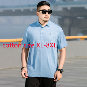 Футболка мужская хлопковая с коротким рукавом, супербольшая Модная Повседневная рубашка, размеры 2XL, 3XL, 4XL, 5XL, 6XL, 7XL, 8XL, лето