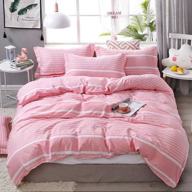 Nordic Bedding Set Pink Stripes 26