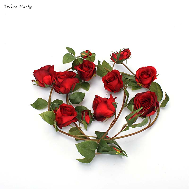 Artificial Silk Flower Rose Flower for Wedding Party Home Decoration Red