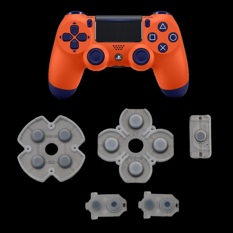 For Playstation 4 PS4 Controller Conductive Silicone Rubber Pads For Dualshock 4 JDS JDM 030 D Pad Buttons L41E