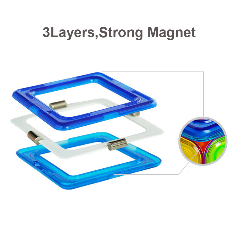 50pcs Big Magnetic Constructor Triangle Square Bricks Magnetic Building Blocks Designer Set Magnet Toys For Children Gift 5