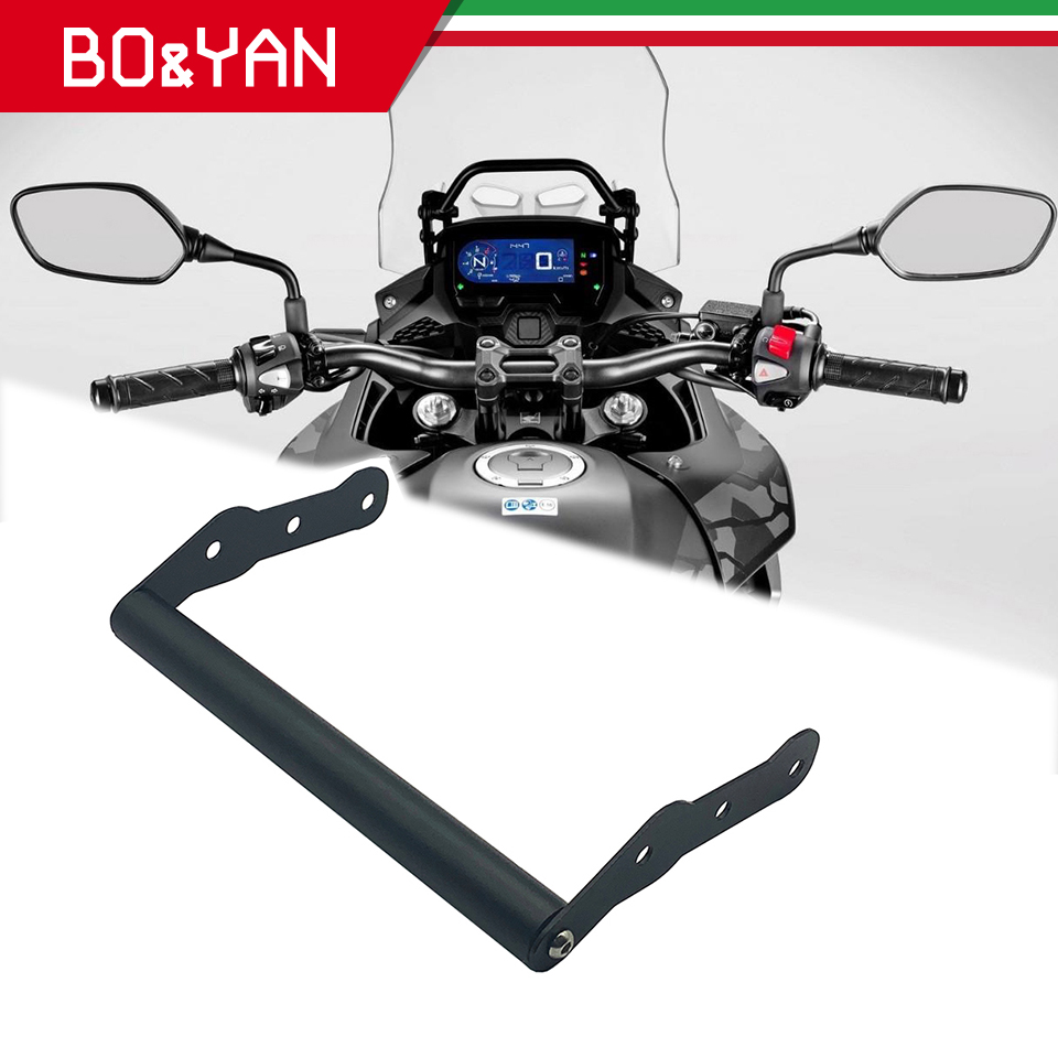 For <font><b>Honda</b></font> <font><b>CB500X</b></font> CB500 X CB 500X 2016 2017 <font><b>2018</b></font> 2019 Motorcycle GPS/SMART PHONE Navigation GPS Plate Bracket Adapt Holder image
