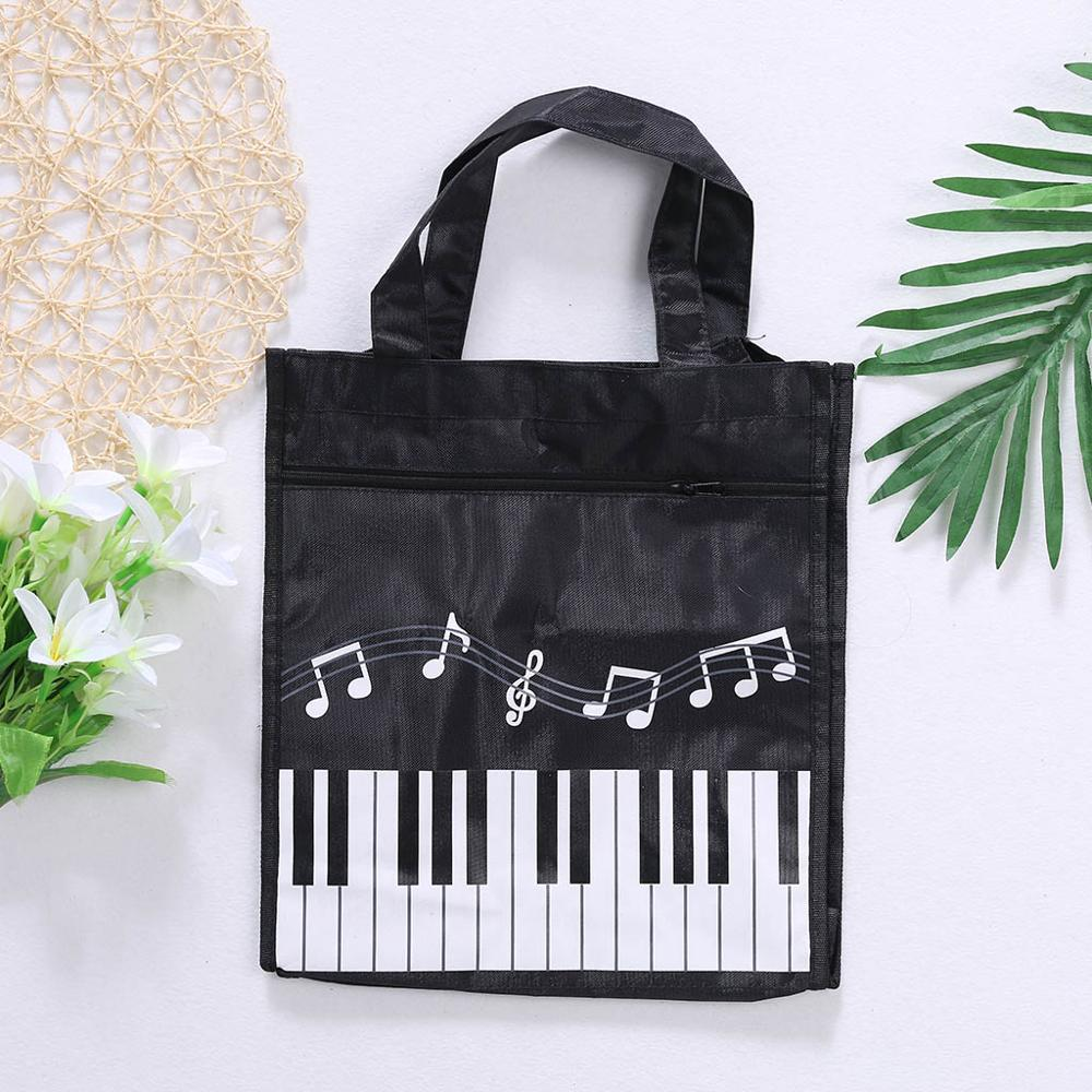 Piano Keyboard Music Note Women Tote Handbag Shoulder Shopping Bag Waterproof