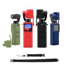 Caixa de silicone macia anti perda, acessório de silicone protetor para câmera, cardan, à prova de poeira e pescoço