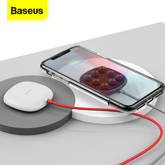 Baseus Suction Cup Wireless Charger For iPhone 11 Pro Max Qi Wireless Charging Pad For Samsung Note 9 S9+ USB Wireless Charger