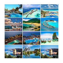 5D DIY Diamond Painting Mountain Lake Mosaic Full Display Square Crystal Embroidery Scenic Rhinestones Pictures