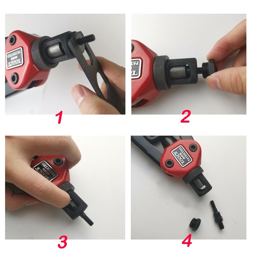 inserção porca rebite arma mão conjunto ferramentas