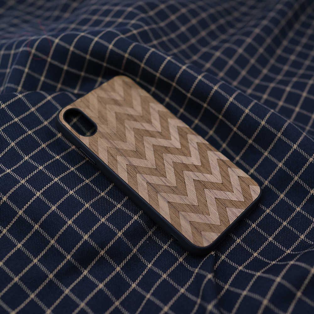 Защитный чехол из дерева для iPhone 11 Pro, XS Max, X, SE, 2, ручной работы, подарок из дерева для iPhone XR, 6 S, 7, 8 Plus, матовый чехол