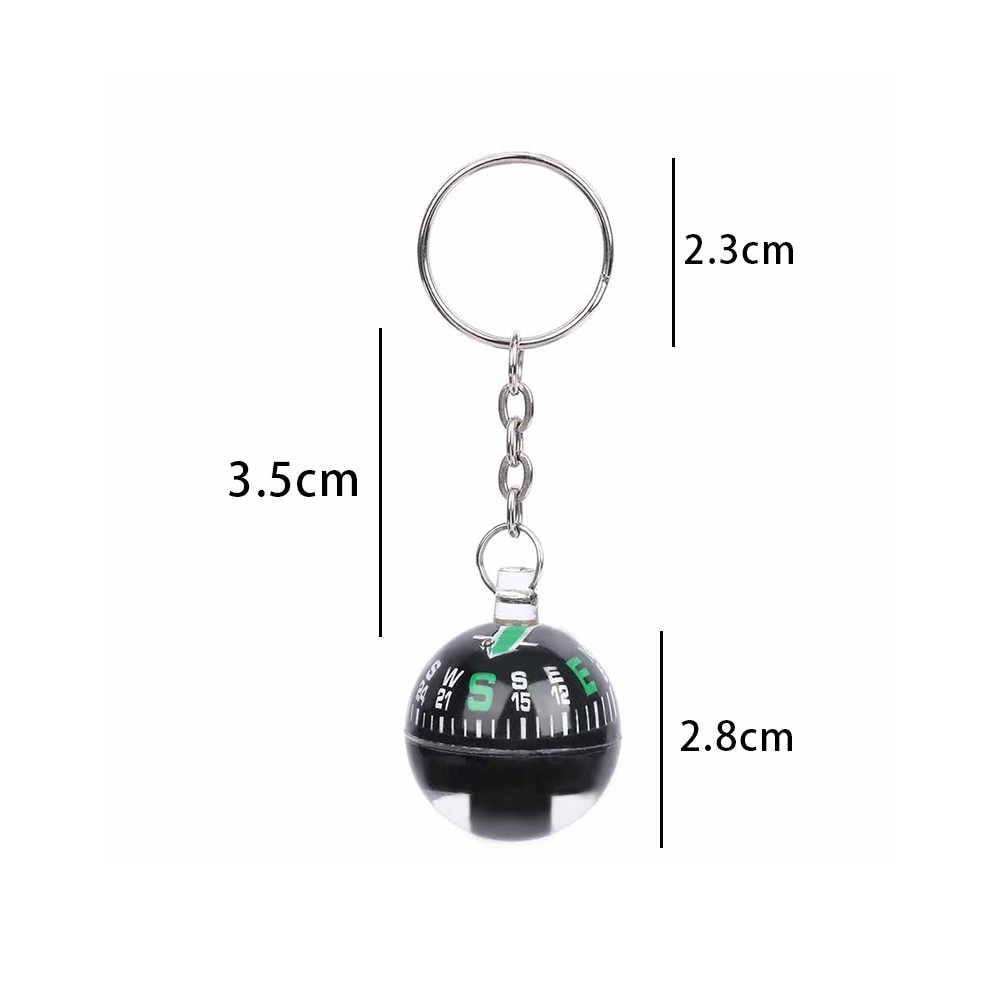 28 millimetri Ball Bussola Portachiavi Liquid Filled Bussola Precisione Turistico Per L'escursione di Campeggio Corsa Esterna Di Sopravvivenza Strumenti