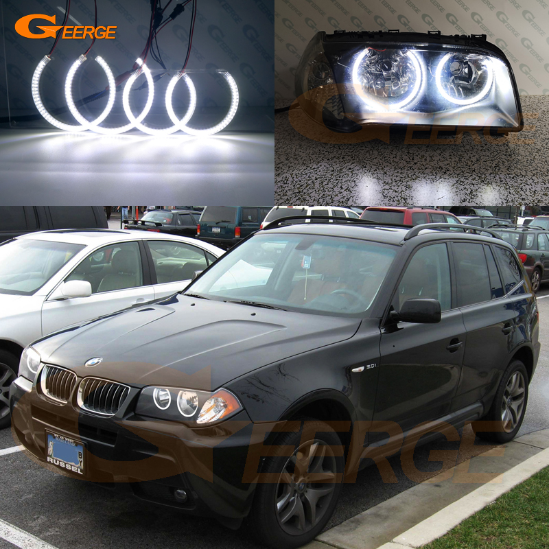 For BMW E83 X3 2003 2004 2005 2006 Pre facelift Excellent Ultra bright smd led Angel Eyes Halo Ring kit DRL