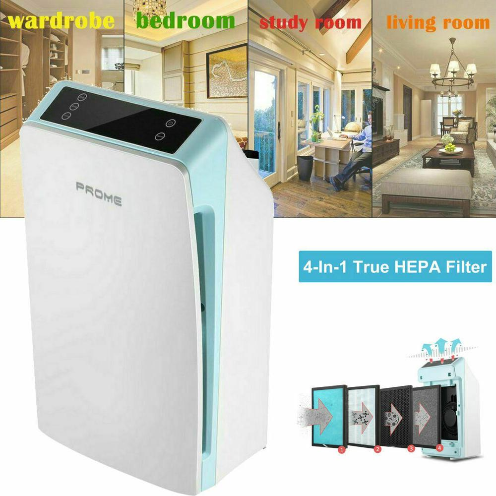 WEOOLA Air Purifier With True HEPA Filter Actived Carbon Layer Filter Odor Allergies Eliminator Air Cleaner For Home Office USA