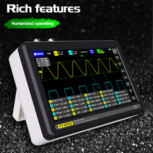 New!ADS1013D 2 Channels 100MHz Bandwidth 1GSa/s Sampling Rate Oscilloscope with Color TFT Touching Screen Digital Oscilloscope