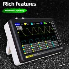Oscilloscope à 2 canaux ADS1013D 100MHz, bande passante 1gsa/s et fréquence déchantillonnage avec écran tactile couleur TFT, nouveauté