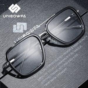 Image 3 - Optique ordinateur lunettes hommes cadre Anti lumière bleue bloquant Prescription lunettes cadre myopie clair jeu lunettes cadre