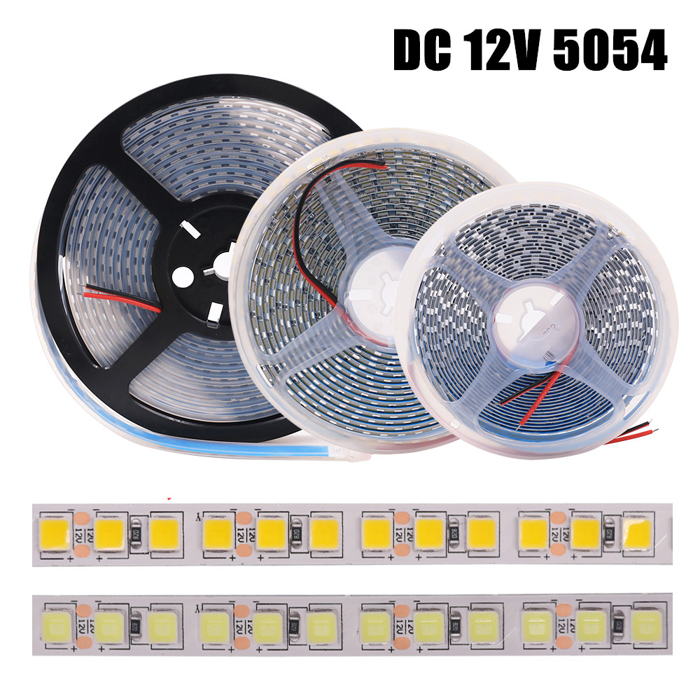 DC 12V <font><b>LED</b></font> <font><b>Strip</b></font> 5054 <font><b>Waterproof</b></font> 60LEDs/m 120LEDs/m Natural <font><b>White</b></font> Flexible Tape <font><b>LED</b></font> Light Lamp For Indoor Decoration 5m/lot image