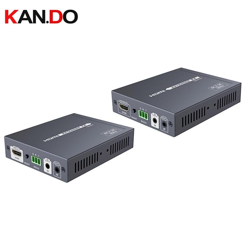 675-100 Transmission 100m 4K*2K@60Hz HDMI HDBASET2.0 Lossless Extender Converter CEC HDCP2.2 Ultra HD CEC 24bits Deep Color R232