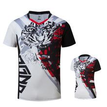Nowy badmintona z krótkim rękawem koszule męskie mężczyźni kobiety tenis stołowy koszule koszulki sportowe do biegania tenis koszule A132 tanie tanio NAiMAi Poliester spandex Pasuje prawda na wymiar weź swój normalny rozmiar Szybkie suche Oddychająca Anti-shrink Przeciwzmarszczkowy