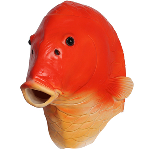 Red Fish Mask Halloween Costum