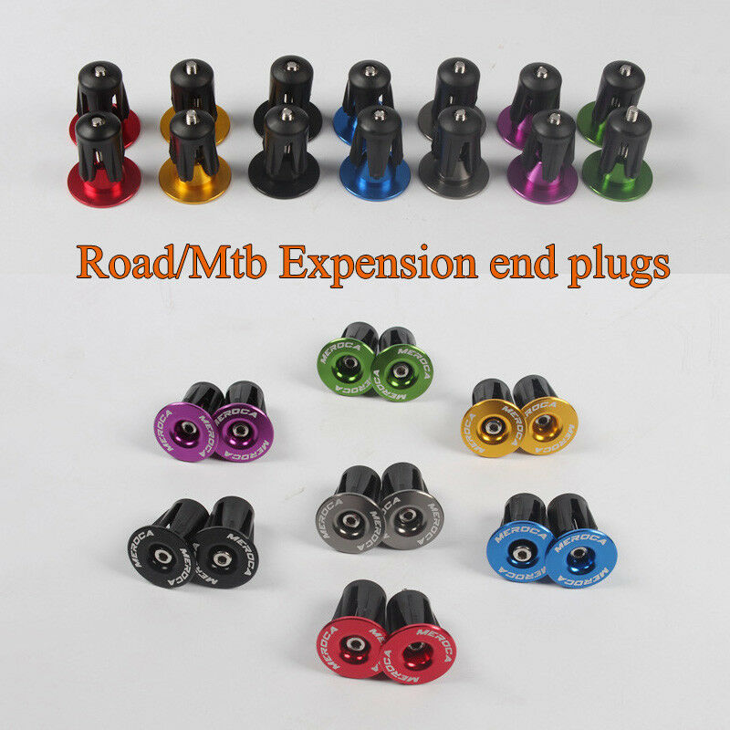 Mountain Bike Bar End Plugs 2PCS Aluminum Alloy Lock Bicycle Accessories MTB Road Bike Handlebar Plug End Cap