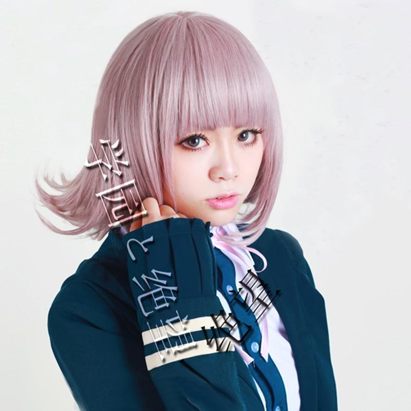 Anime DanganRonpa Cosplay Wig for Girl Women Dangan Ronpa Nanami ChiaKi Heat Resistant Hair Cosplay Costume Wig + Free Wig Cap