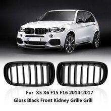 Черный глянец для BMW F15 X5 F16 X6 X Series левый и правый передний капот Замена решетка для почек гриль