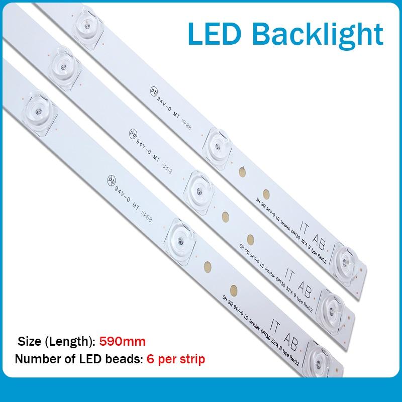 100%new 590mm LED Backlight 6lamp For LG 32