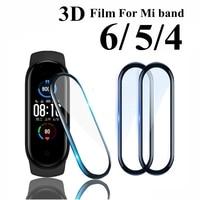 Pellicola salvaschermo 3D per Xiaomi MI band 4 5 6 cinturino in pellicola Mi band Smart Watch Miband Full Soft Screen protettivo miband 4 5 6 film