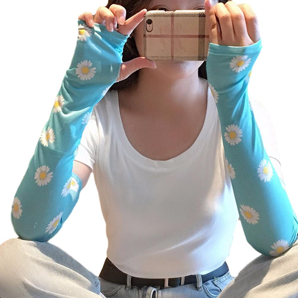 Floral Print 5 Patterns HOT New Design Cold Sleeve Cuffs Cute Sunscreen Arm Sleeves Armguard Summer Driving Arm Warmers