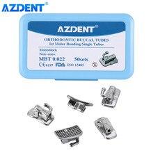 AZDENT – Tube Buccal orthodontique dentaire, 200 pièces par boîte, 1ère molaire collable, monoblocage Non Convertible, MBT 0.022