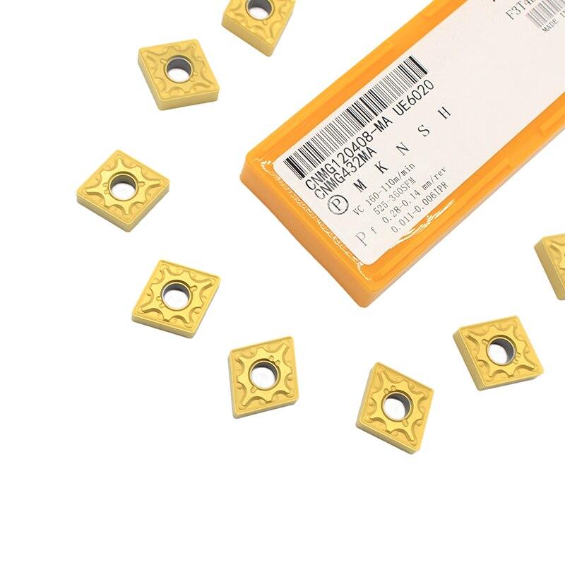 10PCS CNMG120408 UE6020 External Turning Tools Carbide Inserts Cutting Lathe CNC Tools Lathe Cutter