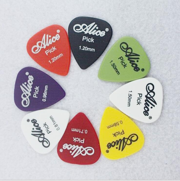 12 Pieces Alice Guitar Pick Non-slip Black White Nylon Mediator For Acoustic Electric Guitarra Ukulele Accessories Random Color