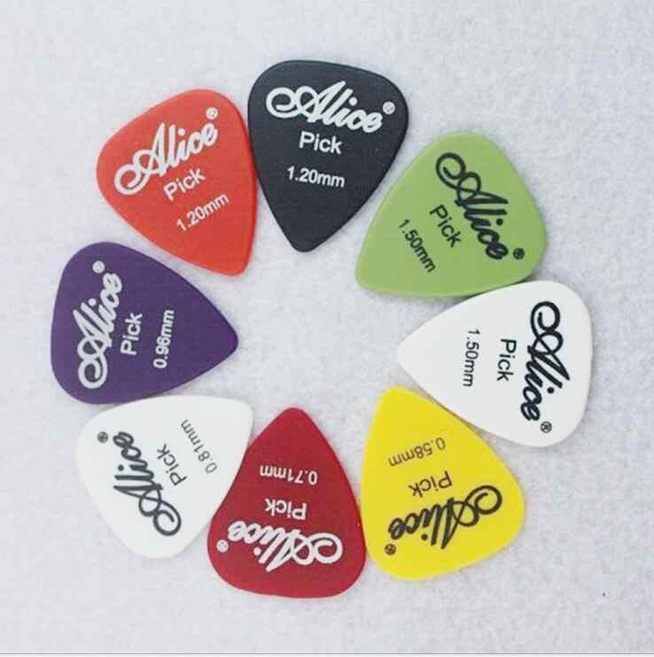 12 قطع اختيار الغيتار أليس عدم الانزلاق أسود أبيض النايلون الوسيط ل الصوتية الكهربائية غيتار القيثارة اكسسوارات لون عشوائي