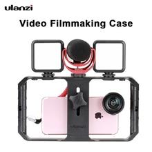 Ulanzi U Rig Pro Smartphone וידאו Rig עם 3 Mounts וידאו הקלטת טלפון סלולרי מייצב קולנוע מקרה מצלמת אביזרים