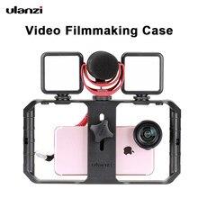 Ulanzi u rig pro smartphone vídeo rig com 3 montagens de gravação vídeo estabilizador de telefone celular filmmaking caso filmando acessórios